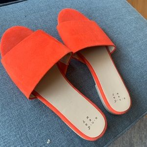 A New Day Orange Slide Sandals